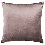 Plush Nest Velvet/Linen Square Throw Pillow in Blush