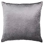 Plush Nest Velvet/Linen Square Throw Pillow in Mushroom