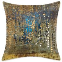 Edie at Home Nebula Square Indoor Decorative Pillow in Gold