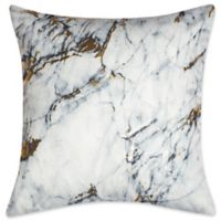 Edie at Home Carrera Square Indoor Decorative Pillow in Marble