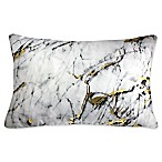 Edie at Home Carrera Rectangular Indoor Decorative Pillow in Marble