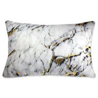 Edie at Home Carrera Rectangular Indoor Decorative Pillow in Marble