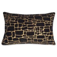 Edie at Home Supernova Rectangular Indoor Decorative Pillow in Black/Gold