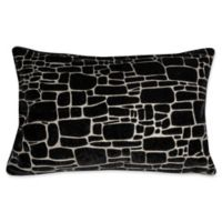 Edie at Home Supernova Rectangular Indoor Decorative Pillow in Black/Silver