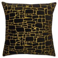 Edie at Home Supernova Square Indoor Decorative Pillow in Black/Gold