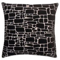 Edie at Home Supernova Square Indoor Decorative Pillow in Black/Silver