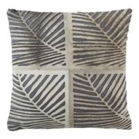 Safavieh Palm Cowhide 18-Inch Square Throw Pillow in White