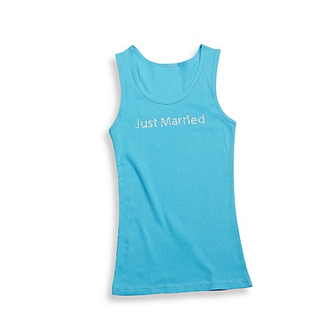 Teal -InchJust Married-Inch Extra Large Tank Top