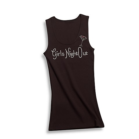 Black -InchGirls Night Out-Inch Large Tank Top
