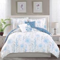Boho Living Fresh Meadow King Comforter Set in Blue (5-Piece Set)