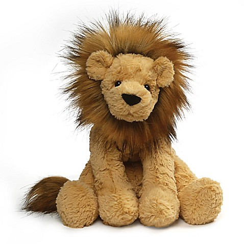 gund cozys lion large plush toy in tan bed bath beyond. Black Bedroom Furniture Sets. Home Design Ideas