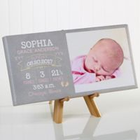I Am Special Birth Info 5.5-Inch x 11-Inch Photo Canvas Art