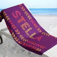 Stencil Name Beach Towel