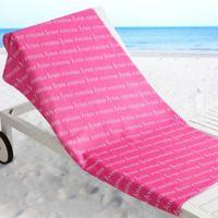 Playful Name Beach Towel