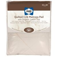 Sealy® Quilted Crib Mattress Pad with Allergy Protection Organic Cotton Top