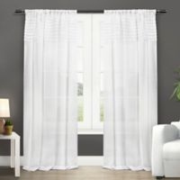 Barcelona 108-Inch Rod Pocket Window Curtain Panel Pair in White