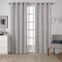 Shantung 84-Inch Room Darkening Window Curtain Panel Pair in Silver