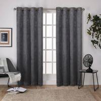 Shantung 108-Inch Room Darkening Window Curtain Panel Pair in Black