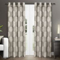 Akola 108-Inch Grommet Top Window Curtain Panel Pair in Light Grey