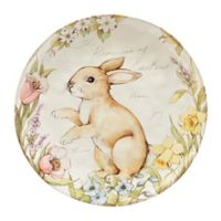 Certified International Bunny Patch by Susan Winget Round Platter