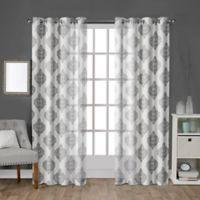 Birmingham 108-Inch Grommet Top Window Curtain Panel Pair in White