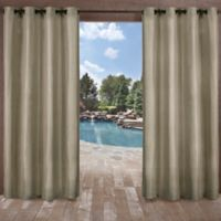 Biscayne 108-Inch Grommet Top Indoor/Outdoor Window Curtain Panel Pair in Natural