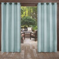 Biscayne 108-Inch Grommet Top Indoor/Outdoor Window Curtain Panel Pair in Pool Blue