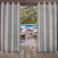 Biscayne 84-Inch Grommet Top Indoor/Outdoor Window Curtain Panel Pair in Silver