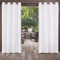 Biscayne 84-Inch Grommet Top Indoor/Outdoor Window Curtain Panel Pair in White