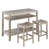 Home Styles 3-Piece Stainless Steel Kitchen Island Set