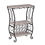 Southern Enterprises Arcino Wine Storage Table in Grey/Black