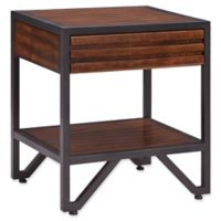 iNSPIRE Q® Celaya Cherry and Metal Nightstand