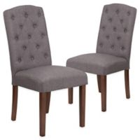 Grove Park Tufted Parsons Chairs in Grey (Set of 2)