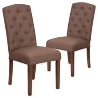 Grove Park Tufted Parsons Chairs in Brown (Set of 2)