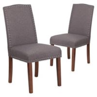Flash Furniture Hampton Hill Parsons Chairs in Grey (Set of 2)