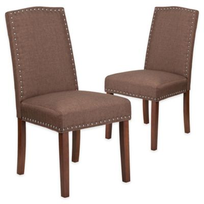 Flash Furniture Hampton Hill Parsons Chairs In Brown (Set Of 2)