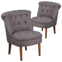 Flash Furniture Kenley Series Fabric Tufted Chair in Grey(Set of 2)