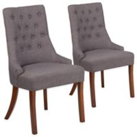 Flash Furniture Paddington Upholstered Side Chair in Grey (Set of 2)