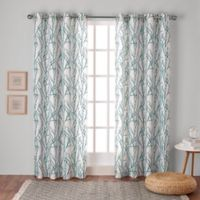 Branches 108-Inch Grommet Top Window Curtain Panel Pair in Teal