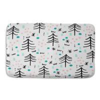Deny Designs 17-Inch x 24-Inch Zoe Wodarz Winter Wander Memory Foam Bath Mat