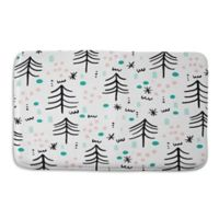 Deny Designs 24-Inch x 36-Inch Zoe Wodarz Winter Wander Memory Foam Bath Mat