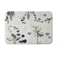"Deny Designs 24"" x 36"" Iveta Abolina Woodland Dream Memory Foam Bath Mat in White"