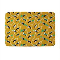 "Deny Designs 24"" x 36"" Hello Sayang Toucan Play This Memory Foam Bath Mat in Yellow"