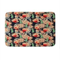 "Deny Designs 17"" x 24"" Holli Zollinger Boheme Butterfly Memory Foam Bath Mat in Red"