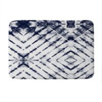 "Deny Designs 17"" x 24"" Little Arrow Design Shibori Tie-Dye Memory Foam Bath Mat in Blue"