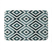 "Deny Designs 24"" x 36"" Little Arrow Design Co Watercolor Memory Foam Bath Mat in Blue"
