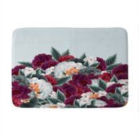 "Deny Designs 17"" x 24"" Iveta Abolina English Rose Memory Foam Bath Mat in Blue"
