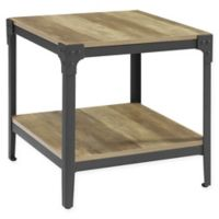 Forest Gate Wheatland Rustic Wood End Table in Rustic Oak (Set of 2)