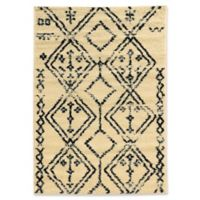 Linon Home Moroccan Fes 3' x 5' Area Rug in Ivory