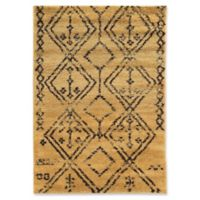 Linon Home Moroccan Fes 3' x 5' Area Rug in Camel